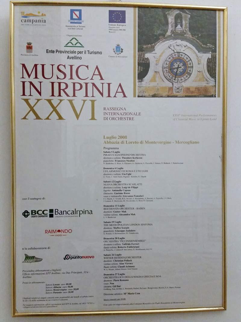 Musica in Irpinia Plakat